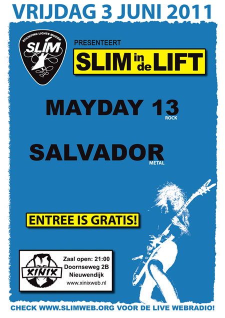 Poster SLIM In de Lift 3 juni 2011